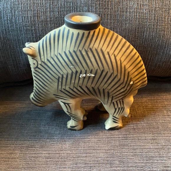Clay MMA replica wild boar candlestick holder